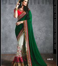 Buy Green embroidered georgette saree with blouse georgette-saree online