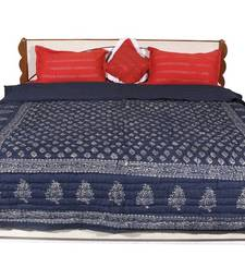 Buy Blue printed Cotton Quilts quilt online