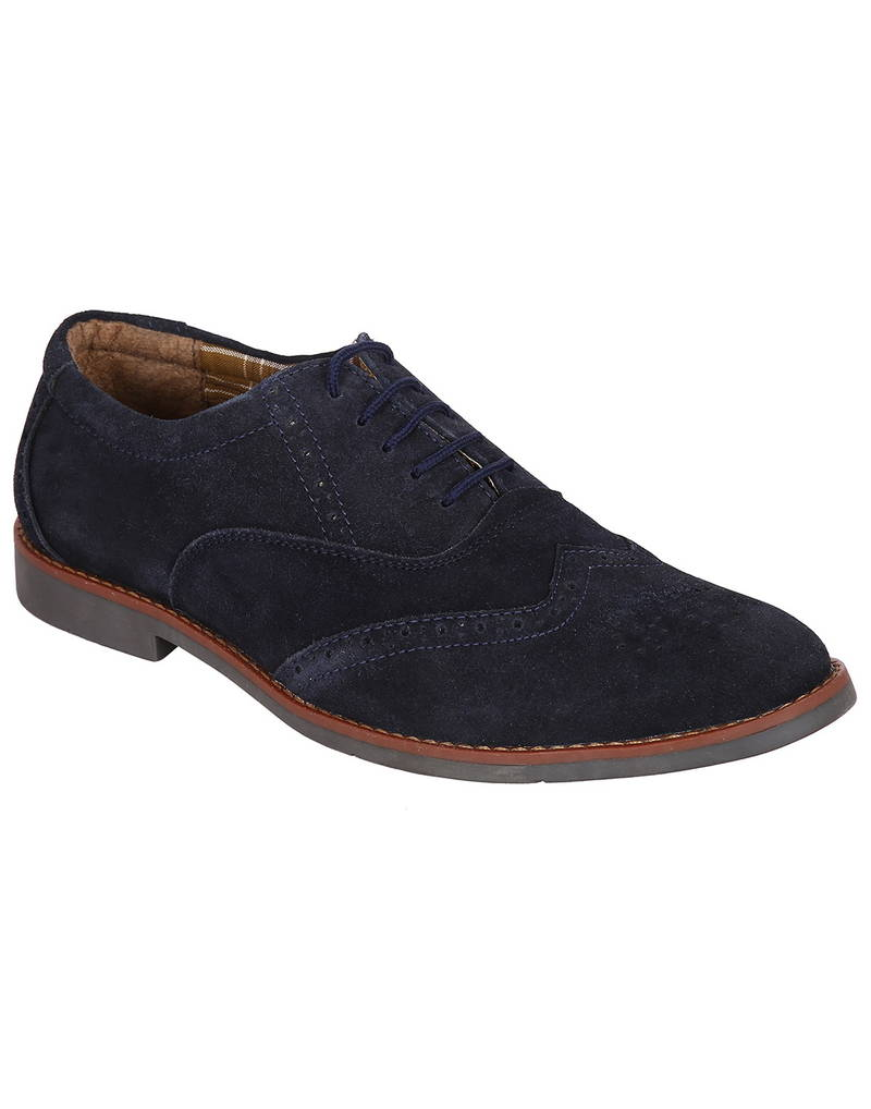 buy navy casual brogue shoes
