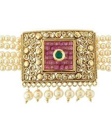 Buy Traditional Pearl Baju Band Armlet Imitation Jewellery Bajuband bajuband online