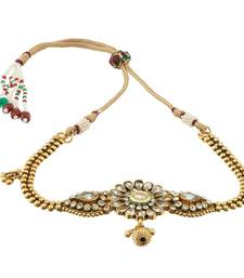Buy Imitation White Kundan Copper Bajuband For Women bajuband online