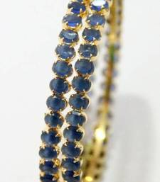 Buy INK BLUE STONE STUDDED BANGLE Bracelet online