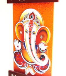 Buy Key holder decorative and wooden and handcrafted with god photo shree ganesh wall-art online