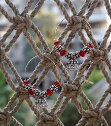 Buy red ethnic jhumki hoops hoop online