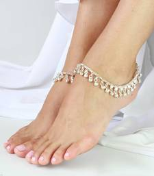 Buy Silver tone Jingle Bells Anklets Payal pair anklet online