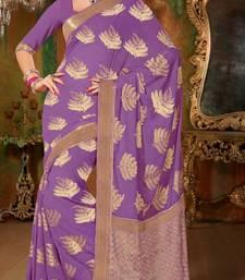 Buy Gorgeous banarasi chiffon saree wedding-gift online