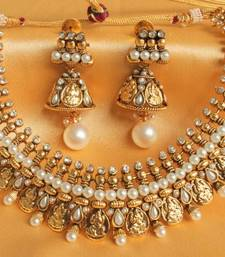 Buy GORGEOUS PEARL ROYAL COIN NECKLACE SET necklace-set online