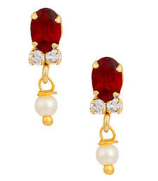 Buy Red american diamonds earrings stud online