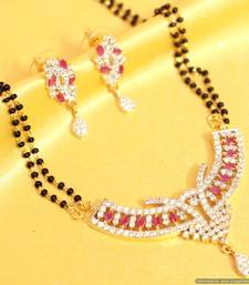 Buy Red ruby diamond look mangalsutra mangalsutra online