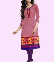 Buy New Red And Blue Chex Design Cotton Kurtis kurtas-and-kurti online