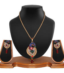 Buy Elegant Peacock Collection Pendant Set Pendant online