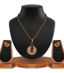 Buy Ethnic Peacock Collection Pendant Set Pendant online
