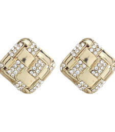 Buy Gold Square Diamond Studs Earring stud online