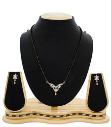 American Diamond Studded Gold Plated Mangalsutra shop online
