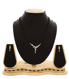 American Diamond Studded Designer Gold Plated Mangalsutra shop online