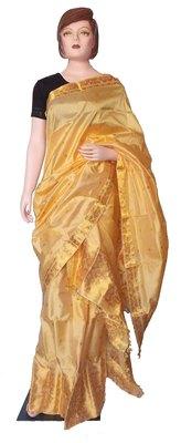 Pure Assam Silk Mekhela Chador with exotic Golden Thread Weaving works