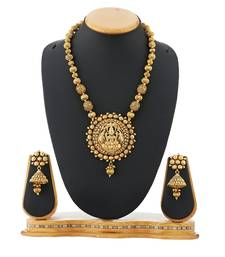 Buy Golden Ball Chain Temple Necklace Set Artificial Jewellery necklace-set online