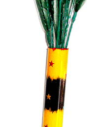 Buy Flower vase - colourfully handcrafted to brighten your interiors - yellow and black vase online