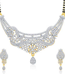 Buy Memorable Gold And Rhodium Plated Mangalasutra Set For Women mangalsutra online