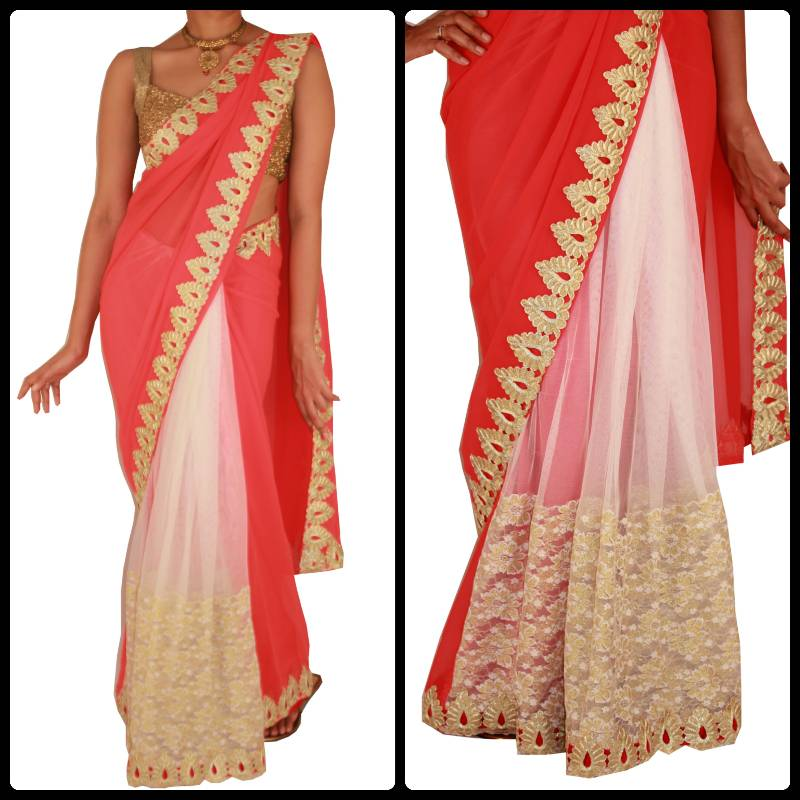 Sarees With Border Online Border Venetian Red Saree