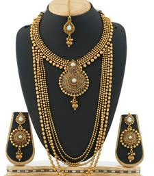 Buy Gold plated pearl necklace sets necklace-set online