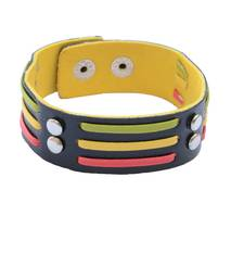 Buy Multicoloured Stripes Bracelet/Wrist Band For Men men-bracelet online