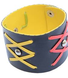 Buy Broad Multicoloured Cross Bracelet/Wrist Band For Men men-bracelet online