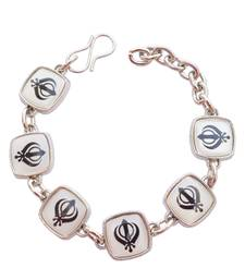 Buy Holy  Symbol  White Bracelet/Wrist Band For Men/ Boys men-bracelet online