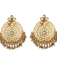 Buy Fancy New Design Pearl Antique Earring jhumka online