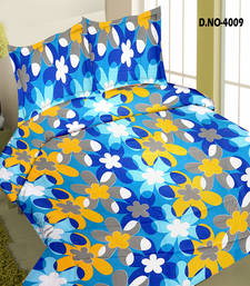 Buy Double Bed Sheet With Pillow Covers With An Impeccably Designer Pattern bed-sheet online