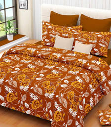 Buy Beautiful Floral Printed High Quality Pure Cotton Double Bed Sheet With Pillow Covers bed-sheet online