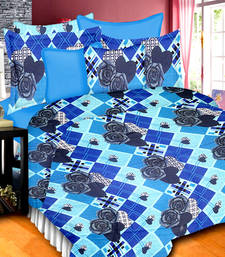 Buy this double bed sheet with pillow covers with an impeccably designer pattern bed-sheet online