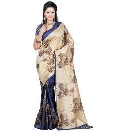 Buy blue printed bhagalpuri_silk saree With Blouse silk-saree online
