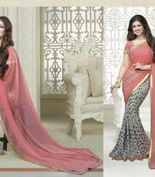 Buy multicolor printed georgette saree with blouse ayesha-takia-saree online