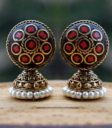 Buy cute lakh red studs stud online