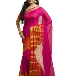 Buy rose embroidered cotton saree With Blouse kota-silk-saree online