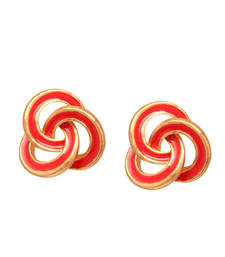 Buy Red antique gold studs stud online