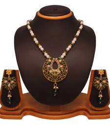 Buy Green antique gold necklaces Necklace online