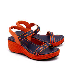 Buy Orange genuine leather footwear footwear online