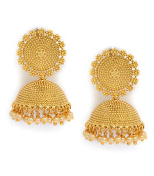 Buy gold plated  traditional jhumkas jhumka online