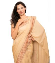 Buy Beige Georgette Silk georgette-saree online