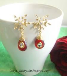 Buy Snowflake with red kundan valentine-gift online