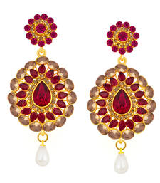 Buy Alluring Gold Plated AD Earring For Women danglers-drop online
