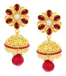 Buy Glamorous Jhumki Gold Plated Earring For Women eid-jewellery online