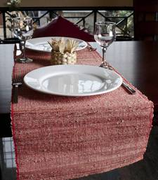 Buy Eco Home Natural Banana Table Runner - Red table-mats-and-runner online