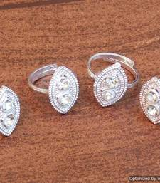 Buy Simple and elegant Silver Finish Toe Rings With Cz Stones Studded  Other online