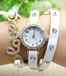 Buy White leather watches for women watch online