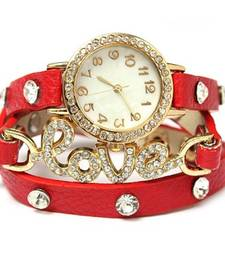 Buy Red leather watches for women watch online