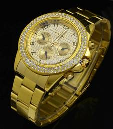 Buy Gold metal watches gifts-for-wife online