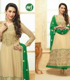 Buy karishma kapoor green and beigh  anarkali salwars-and-churidar online